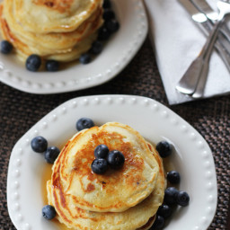 Blueberry Ricotta Buttermilk Pancakes