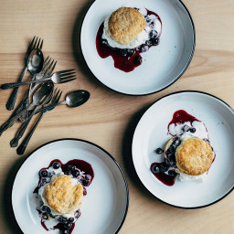 Blueberry Shortcake with Sourdough Biscuits