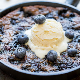 Blueberry Skillet Cookie