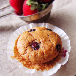 Blueberry Strawberry Yogurt Muffins