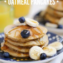 Blueberry Surprise Oatmeal Pancakes (Gluten-Free)