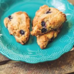 Blueberry Vanilla Scones (Gluten-Free)