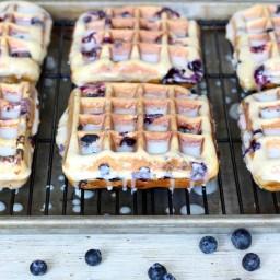 Blueberry Cake Waffles