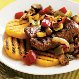 Boardwalk-Style Grilled Sausages with Polenta