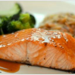 Bobby Flay's Salmon with Brown Sugar and Mustard Glaze