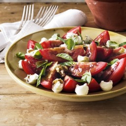 Bocconcini, tomato and basil salad
