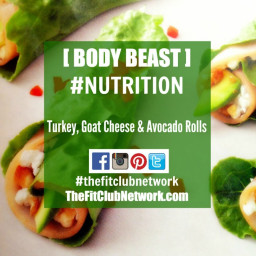 BODY BEAST LUNCH RECIPES: Turkey, Goat Cheese & Avocado Rolls
