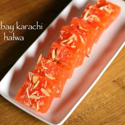 bombay karachi halwa recipe | corn flour halwa recipe