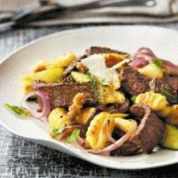 Boneless Beef Steak Zucchini Gnocchi