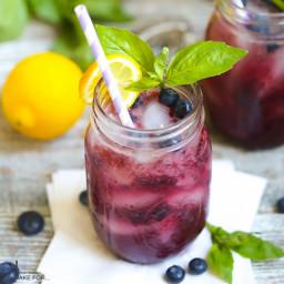 Boozy Basil Blueberry Lemonade