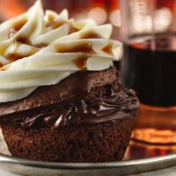 Boozy Bourbon Chocolate Cupcakes