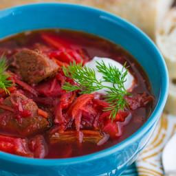 Borscht Recipe with Meat