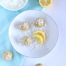 Boules énergétiques citron-coco