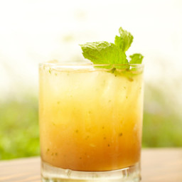 Bourbon and Peach Smash