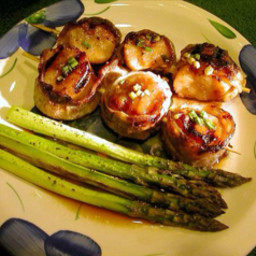 Bourbon-Bacon Scallops
