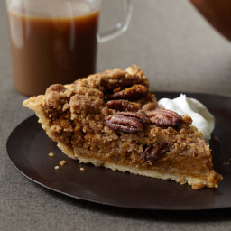 Bourbon Pumpkin Pie with Pecan Streusel