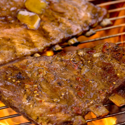 Braised and Grilled or Broiled Pork Ribs