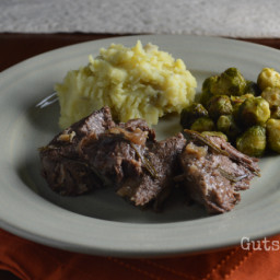 Braised Beef Chuck Roast with Garlic and Rosemary (Instant Pot)