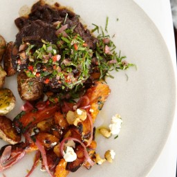 Braised Beef with Red Onion Gremolata