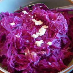Braised Cabbage and Goat cheese (bacon flavoured)