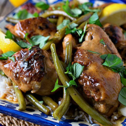 Braised Chicken Limoncello with Green Beans