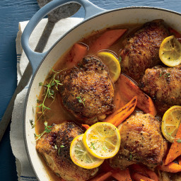 Braised Chicken Thighs with Carrots and Lemons Recipe