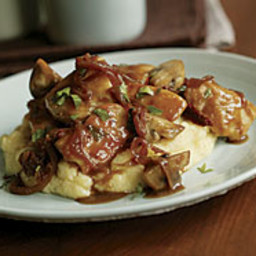Braised Chicken with Caramelized Onions, Mushrooms and Sun-Dried Tomatoes