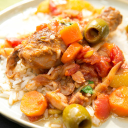 Braised Chicken with Dates, Lemon and Pine Nuts