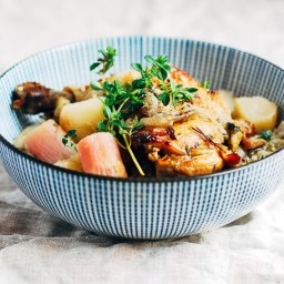 Braised Chicken with Turnips and Radishes