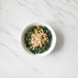 Braised Kale with Shallots and Slivered Almonds