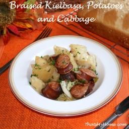 Braised Kielbasa, Potatoes and Cabbage