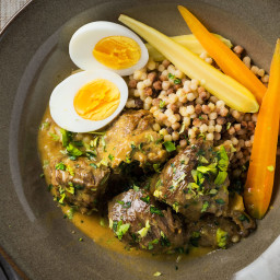 Braised Lamb With Egg and Lemon