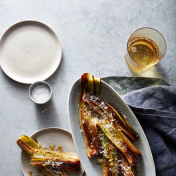 Braised Leeks with Parmesan