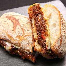 Braised Oxtail and Gruyère Sandwiches Recipe