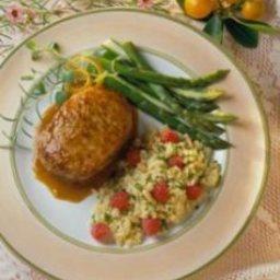Braised Pork Chops with Orange-Mustard Sauce