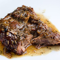 Braised Rosemary Lamb Shoulder Chops