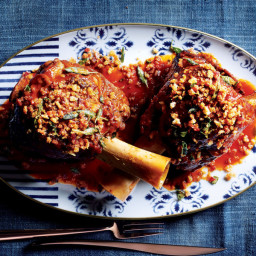 Braised Veal Shanks with Bacon-Parmesan Crumbs
