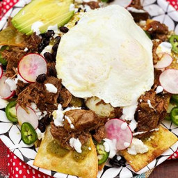Braised Wagyu Beef Chile Verde Chilaquiles