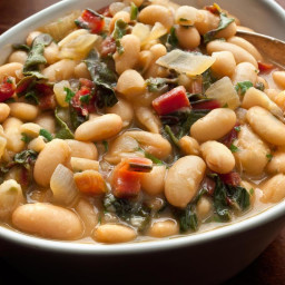 Braised White Beans with Chard