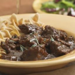 Braised Beef  and  Mushrooms