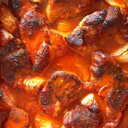 Brazilian Braised Pork in Passion Fruit, Orange and Guajillo Peppers