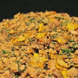 Brazilian Farofa (bread crumbs mix side or stuffing)
