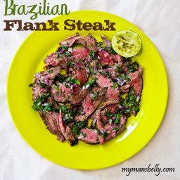 Brazilian Grilled Flank Steak - Dinner Made Easy