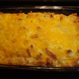 Bread and cheese Breakfast Casserole