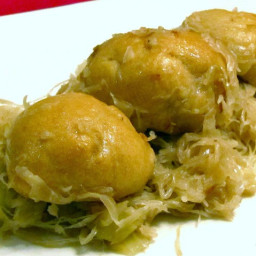 Bread Balls With Sauerkraut Is A Traditional Slovak Christmas Eve Dish