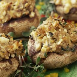 Bread Crumb and Parmesan Stuffed Mushrooms