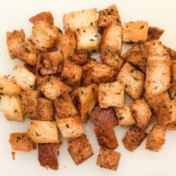 Bread- Garlic and Oregano Croutons