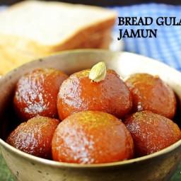 bread gulab jamun recipe, how to make bread gulab jamun