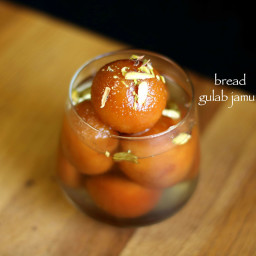bread gulab jamun recipe | instant gulab jamun with bread