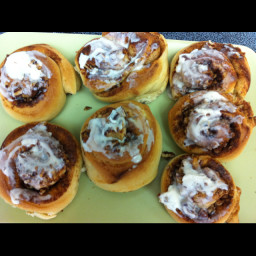 Bread machine Overnight Cinnamon Rolls